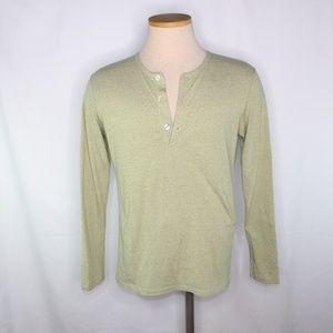 Mizzen Main Light Cream Trim Fit Henley Shirt